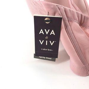 Ava & Viv Intimates & Sleepwear - Ava & Viv | Plus Size T-Shirt Bra Dusty Rose